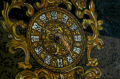 clock mechanism oil painting gilded baroque ornate fancy