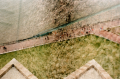 film multiple exposure lomography walkway people aerial view grass surreal transparent street path