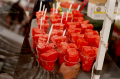 double multiple exposure lomography watermelon cups fair street market summer