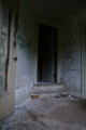 abandoned building graffiti doorway