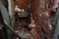 abandoned building sink bricks