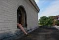 roof building foot leg surreal