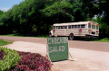 film photography schoolbus road sign chicken salad non sequitur