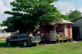 film photography car shack tropical