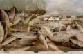 film photograph lomography multiple exposure fish market sky