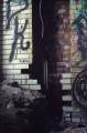 abandoned building graffiti broken brick wall