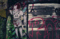abandoned building graffiti baby