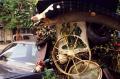 film photograph wooden swordfish wagon wheel junk tires