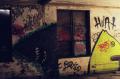 film photograph abandoned graffiti shark