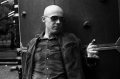 film photograph portrait black white playground man sunglasses pez dispenser