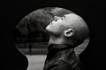 film photograph portrait black white silhouetted keyhole profile man