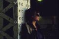 film photograph portrait girl young woman sunglasses leather jacket