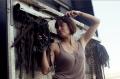 film photograph portrait young woman chains