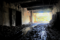 abandoned building film photography hdr graffiti urban exploration tunnel shadow contrast light