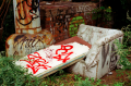 abandoned sofa couch graffiti