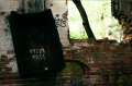 abandoned building urbex factory graffiti pizza face