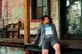 portrait film young man jacket pensive sitting