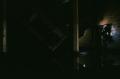 film photograph dark shadows chiaroscuro abandoned building water reflection