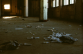film photograph dark shadows chiaroscuro abandoned building syringes drugs