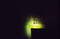 abandoned building film photograph dark shadow caution sign old