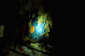 abandoned building film photograph colorful paint chipping texture