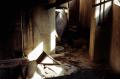 abandoned building film photograph debris