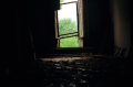 film photography urbex abandoned ruinporn window chiaroscuro debris