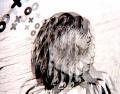 film photography prism lens fractal trippy psychedelic spiral black white graffiti xoxo girl