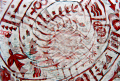 film photography prism lens fractal trippy psychedelic spiral red white graffiti berlin wall tribal