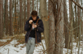 young man winter woods nature dripping vaping vapelife fat clouds hapa