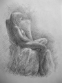 figure drawing quick sketch 20 minutes seated nude girl female