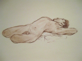 figure drawing quick sketch 20 minutes reclining nude male man