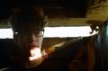 film photography urbex abandoned crumbling debris ruinporn chiaroscuro portrait sunlight bunker slit