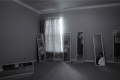 digital photograph portrait room young man standing mirrors illusion surrealism trick trompe l'oeil hapa