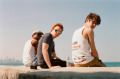 film photography portrait chicago skyline lakefront point young men redhead ginger hapa aviators