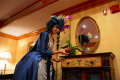 snorlax marie antoinette cosplay dress pokemon hapa zena hardtshaped turquoise lace hotel elysee nyc new york hat pokeball apple snacks