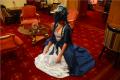 snorlax marie antoinette cosplay dress pokemon hapa zena hardtshaped turquoise lace hotel elysee nyc new york hat pokeball sleepy library red carpet