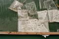 film photograph bulletin board bags trash plastic