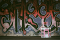 film photograph urbex detroit graffiti childs toy childrens barbie pink playset abandoned ruinporn