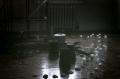 film photograph plastic bottles thread spools wooden floor art