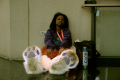 digital photograph portrait cosplay convention c2e2 chicago furry bear feet paws slippers