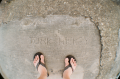 turk hickey sidewalk graffiti carving sandal feet funny