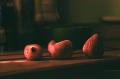 strawberries cutting board funny shape deformed