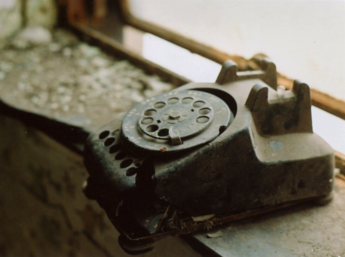 film photography old dusty telephone rotary dial old-fashioned gary post office