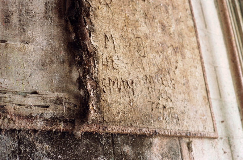 film vintage retro macro texture crumbling wall inscription old falling apart peeling