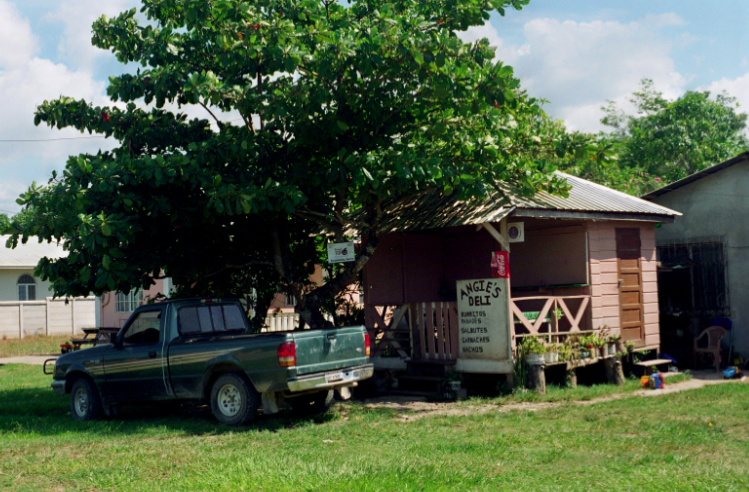 film photography car shack tropical