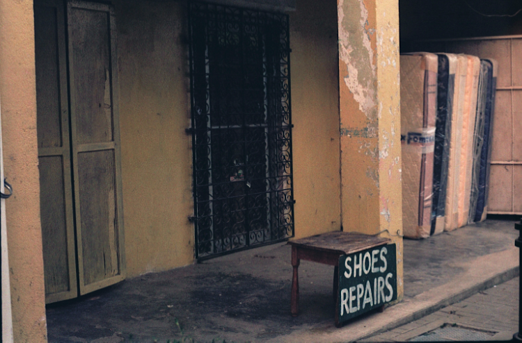 film photography street shoe repairs