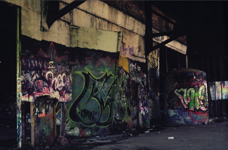abandoned building graffiti