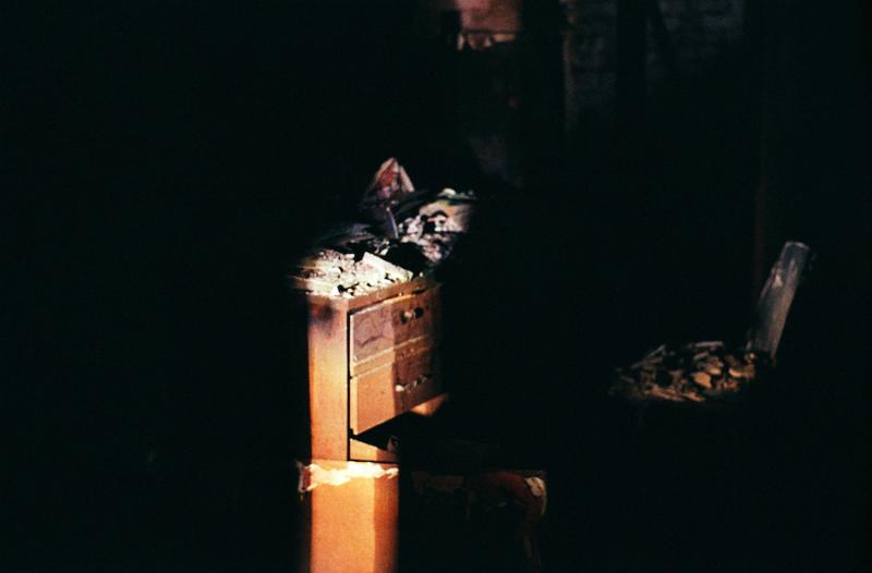 abandoned building film photography dark shadow