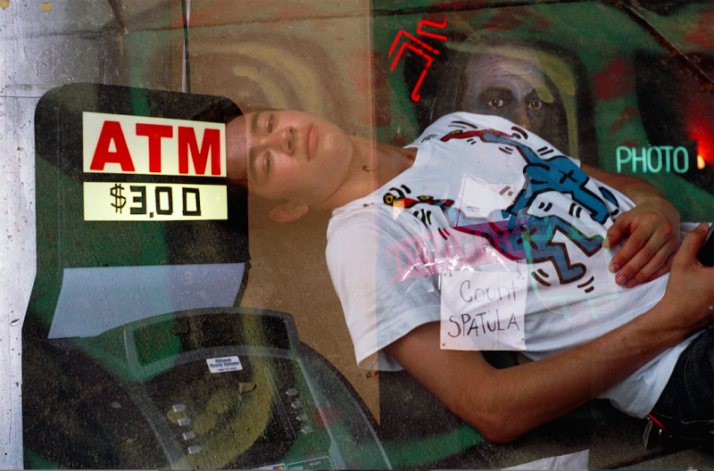 film photograph lomography multiple exposure double atm count spatula portrait young man lying